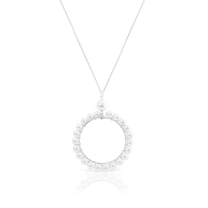 circle schelpketting met stainless ketting iFmHeemstede