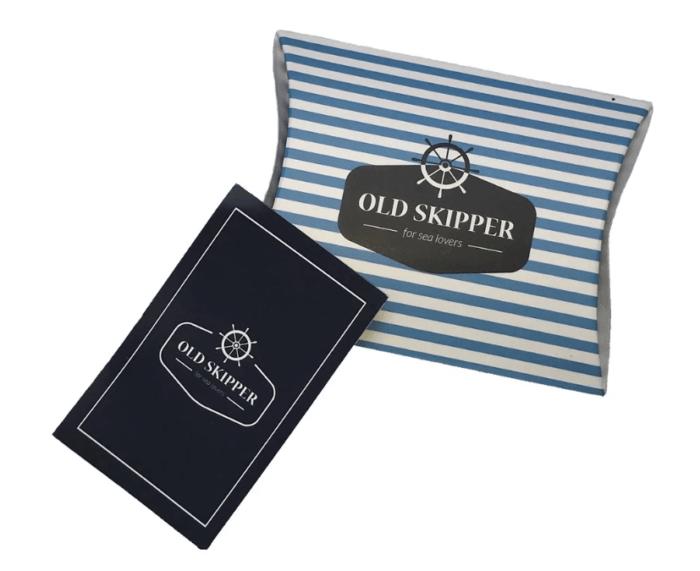 Verpakking en garantiebewijss Old skipper via iFm Heemstede