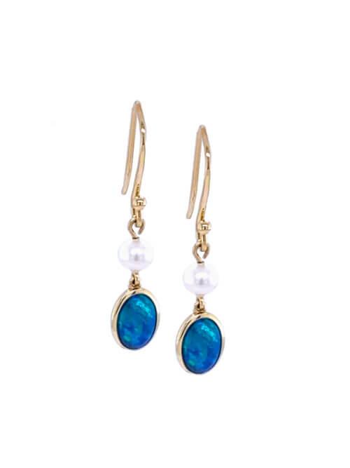ifmheemstede opaal oorbellen goud OE001-9Y