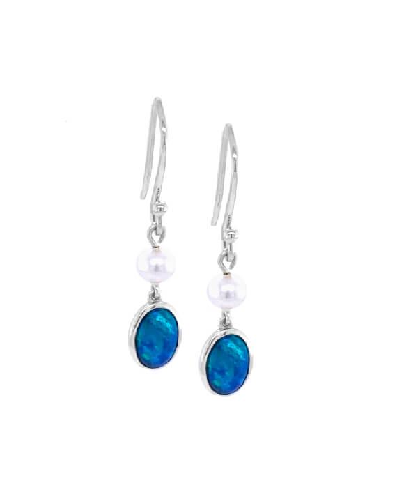 ifmheemstede sterling zilver oorbellen met opaal OE001-SS