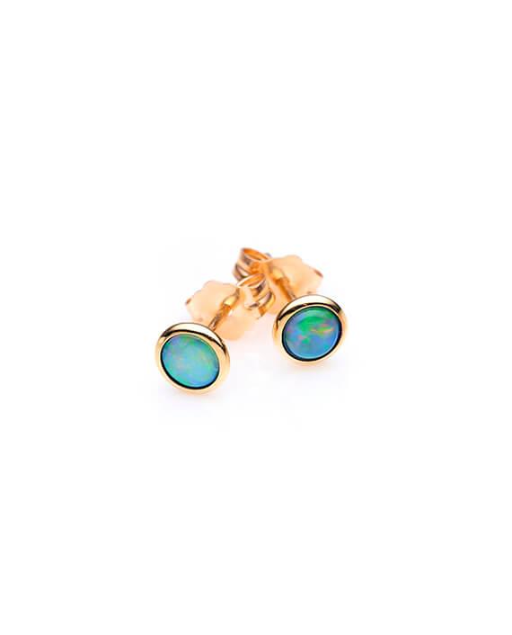 ifmheemstede opaal gouden knopjes oorbellen